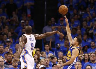 ¡Jugón! Curry desmontó el partido a 14 segundos del final