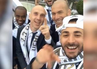 La sonrisa de Benzema: fiesta de compatriotas en Cibeles