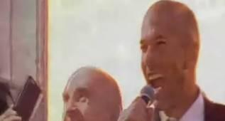 """Zidane desatado en Sol: """"¡Hala Madrid! ¡Arrrggggghhhhhh!"""""""
