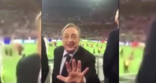 """Florentino: """"¿Mejor el Barça? Ellos tienen 5, nosotros 11"""""""
