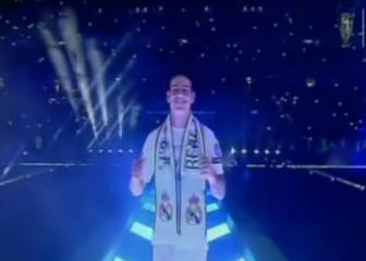 Así fue la entrada triunfal de James Rodríguez al Bernabéu