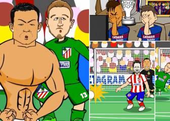 La parodia de los penaltis que se mofa de Oblak y Juanfran