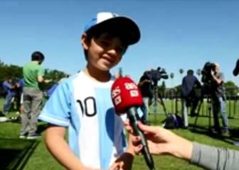La tristeza del niño que no pudo ver a Messi en la práctica