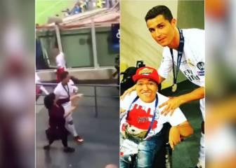 Cristiano atendió a varios discapacitados en San Siro