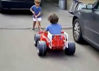 Estos niños son unos cracks: ¡El mejor 'pit stop' que has visto!