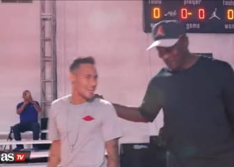 Neymar meets Michael Jordan