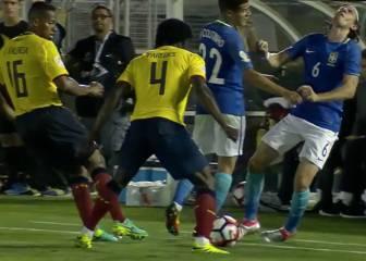 El duro choque entre Filipe y Coutinho: ¡Cabeza con cabeza!