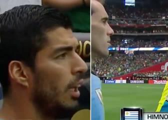 Suárez y Godín alucinaron con el lío de los himnos