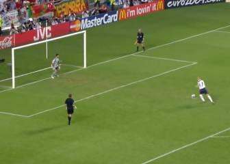 ¿El peor penalti de la historia de la Euro? Beckham, su autor