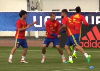 El divertido 'pique' entre Morata y Sergio Ramos