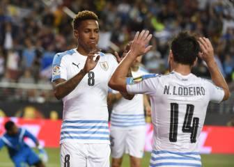 Uruguay salva la honra imponiéndose a Jamaica