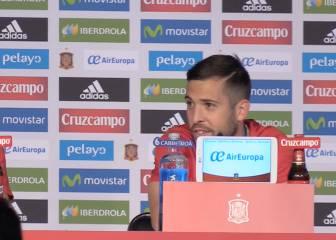 ¿Qué dijo Jordi Alba de Ramos en la conferencia de prensa?