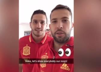 El Snapchat de Jordi Alba y Koke: vean el hotel de España