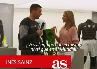 Lukas Podolski: Todos quieren ganarle al campeón del mundo