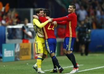Nolito le dedicó su gol a un Casillas radiante de felicidad