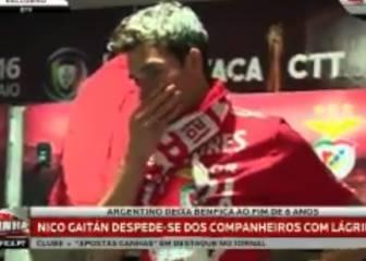 ¡Qué llorera! Nico Gaitán se despide de sus compañeros