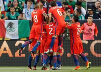 Chile saca el rodillo y destruye a México con una goleada