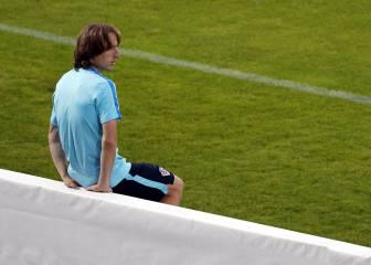 Modric se entrenó en solitario al margen del grupo