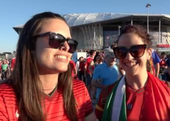 Los fans portugueses, con Cristiano: