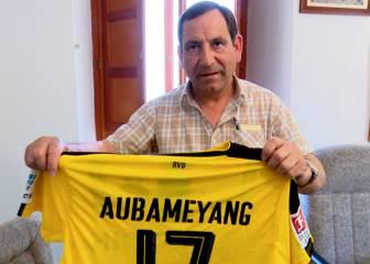 El Alcalde de 'El Barraco', feliz con la visita de Aubameyang