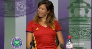 El GIF viral de Garbiñe al ser preguntada si anima a España