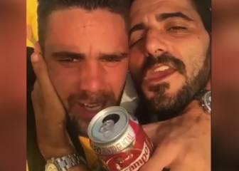 Güiza celebró por todo lo alto el ascenso del Cádiz a Segunda