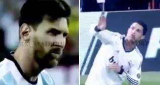 El 'meme' de Cristiano riéndose de Messi que triunfa en redes