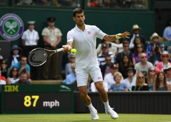 Djokovic y Muguruza pasan de ronda en Wimbledon