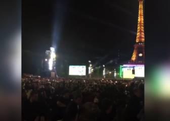 Unos petardos causan terror en la Fan Fest de la Torre Eiffel