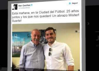 Casillas a Del Bosque: