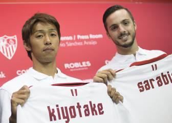 Sarabia y Kiyotake, primeras palabras como sevillistas