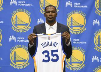 Durant ya viste la camiseta de los Golden State Warriors