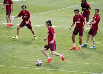 El balón protagonizó la segunda sesión del Atlético