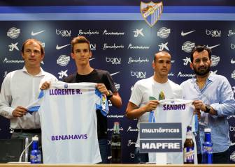El Málaga presenta por todo lo alto a Sandro y Diego Llorente