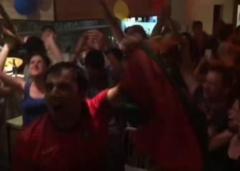 Locura en la casa de Portugal de Valencia con el gol de Éder
