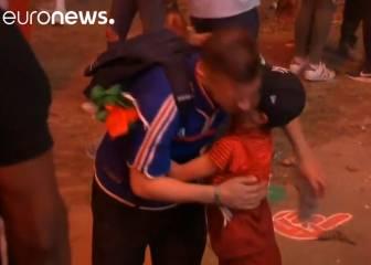 ¡Precioso! Un niño portugués consuela a un hincha francés