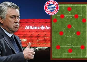 El 11 de Ancelotti para superar al Bayern de Pep Guardiola
