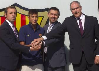 El Barça admite que defraudó con el contrato de Neymar