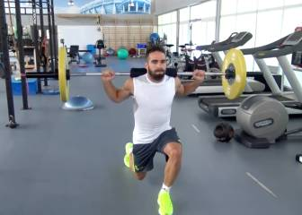 Marcelo y Carvajal, a toda máquina en el gimnasio