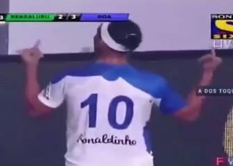 Ronaldinho se corona: 5 goles de auténtico genio en India