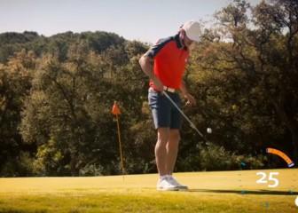 Bale en modo malabarista al golf: ¡Menudo artista!
