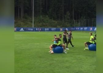 Conte hace alucinar a Costa: ¡Atentos a este ejercicio!