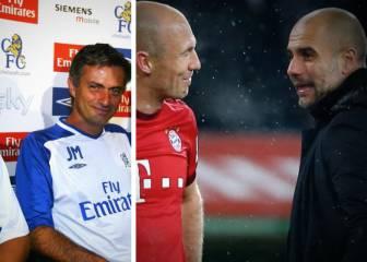 La opinión de Robben sobre Guardiola y Mourinho