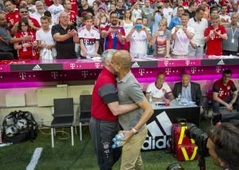 El esperado abrazo entre Pep Guardiola y Carlo Ancelotti