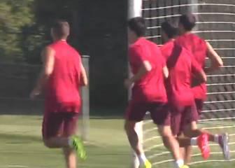 El Atlético de Madrid continúa con los entrenamientos