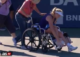 ¡Qué dolor! Vandeweghese marcha en silla de ruedas