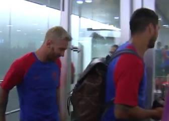 El Barcelona ya está en Burton con Lionel Messi a la cabeza