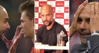 Las caras más inquietantes de Guardiola: ¡Trance, ira, alucine!