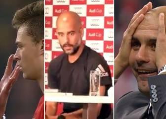 Las caras más inverosímiles de Guardiola: ¡Trance, ira, alucine!