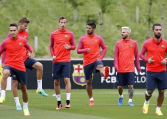 El Barça completa su primera sesión en Saint George's Park